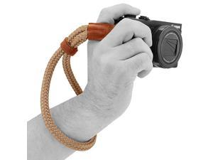 MG942 Cotton Camera Hand Wrist Strap Comfort Padding Security for All Cameras Small23cm9inc Brown