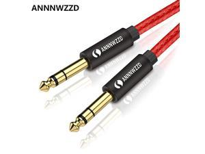 6.35mm (1/4) TRS to 6.35mm (1/4) TRS Stereo Audio Cable Male to Male (6ft / 2M)