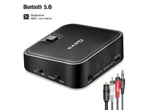 Bluetooth 50 Transmitter and Receiver 2 in 1 Bluetooth Audio Adapter with 35mm Wireless Bluetooth Audio Receiver Bluetooth Transmitter for TVPC aptX Low Latency