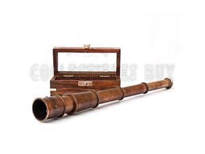 1915 Retro Sailor Marine Telescope Copper Antique Royal Navy Gift Item