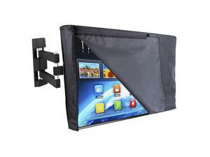 Premium Outdoor TV Cover 44 to 46 inches with Front Flap, Thick Fabric, Weatherproof and Dustproof Outdoor TV Enclosure for Outside LED, LCD TV