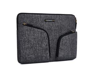 133 Inch Waterproof Laptop Sleeve Canvas with Back Handle Tablet Case for 13133 Inch LaptopsMacBook Pro RetinaDell Inspiron 13 XPS 13 AsusAcerLenovoHP Dark Grey