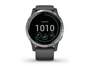 vivoactive 4S SmallerSized GPS Smartwatch Features Music Body Energy Monitoring Animated Workouts Pulse Ox Sensors and More Silver with Gray Band
