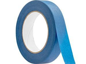 1 Inch, 60 Yard Blue Painters Tape 1 Pk. Easy-Tear, Pro-Grade Removable Masking Tape Great for Home, Office or Commercial Contractor. Clean, Drip-Free Painting with Wide Crepe Paper Rolls