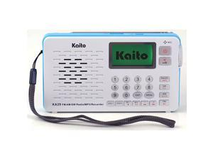 KA29 All in one World Receiver with RecorderAM FM SW Radio with MP3 Player White