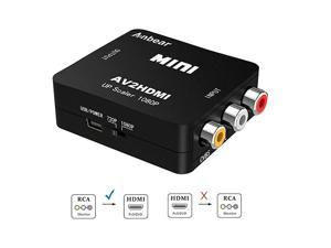 RCA to HDMI  1080P RCA Composite CVBS AV to HDMI Video Audio Converter Adapter Supporting PALNTSC for PC Laptop Xbox PS4 PS3 TV STB VHS VCR Camera DVD