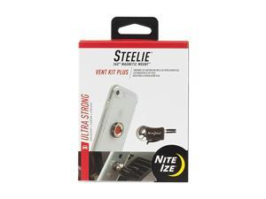 Steelie Vent Mount Kit Plus Magnetic Car Vent Mount for Smartphones with 2x Holding Power and Restickable Magnet Adapter