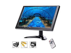 Portable Laptop Monitor for PCHome Security SystemCar Backup Camera CCTV Monitor Gaming Monitor Computer Display Screen FHD 1280x800 with VGABNCUSBHDMIAV Ports Builtin Speaker