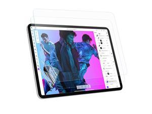 Screen Protector Compatible for iPad 10.9 inch 2020, iPad Pro 11 inch 2021/2020/2018 [2 Pack], Anti-Glare/Anti-Fingerprint/Write Smoothly/Support Apple Pencil & Face ID PET Film, Matte