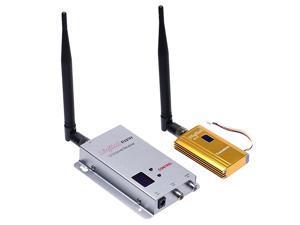 Updated 12G 15W High Power Wireless Audio Video AV 8CH Transmitter 12CH Receiver Sender Kit DC 12V Support CVBS CCTV Camera DVR FPVNot Support AHD Camera