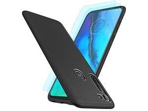 Moto G Stylus Casewith 2 Packs Soft Screen ProtectorResistant Anti Slip Grippy Soft TPU Case for Motorola Moto G Stylus 2020 Phone Black