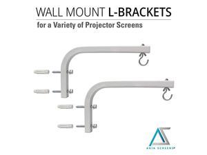 10 inch Universal Projector Screen LBracket Wall Hanging Mount kit 10quot Adjustable Extension with Hook for Projector Screen Indoor Outdoor Movie Video Home Theater White Bracket AKZLB