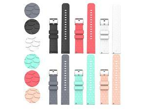 with Fossil Gen 4 Q Venture HR Bands Replacement Colourful Strap Bracelet, 6Pack 18MM Bands for Fossil Women's Gen 4 Venture HR/ Fossil Women's Gen 3 Venture Smartwatch