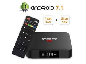 S1 Android 71 TV Box with 1GB RAM 8GB ROM Amlogic S905W Quadcore Digital Display HDMI HD Support 24G WiFi 3D 4K