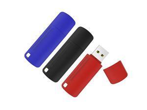 3 Pack 32GB USB 20 Flash Drive Colorful Memory Stick USB Thumb Drives Jump Drive Data Storage 32G 3 Mix Colors Black Blue Red