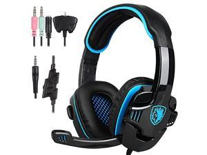 Stereo Gaming Headphone  SA708GT PS4 Gaming Headphone with Microphone Blue