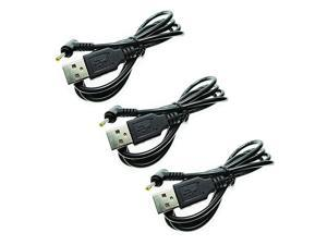 3 PCS USB to DC 25x07mm Plugs Power Cord 33ft1m