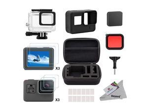 Accessory Kit for GoPro Hero 7Only BlackHD201865 with Shockproof Small Case Waterproof Case Bundle for GoPro Hero 7 Hero HD2018 Hero 6 Hero 5 Action Camera