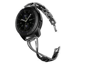 Jewelry Bracelet Compatible with Galaxy Watch 42mm BandsActive 40mm Band Black 20mm Bling Metal Bangle Raplcement for Samsung Galaxy Watch 42mmGalaxy Watch Active 40mm Women Girl