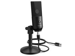 Podcast Microphone USB with Headphone Monitoring 3.5mm Jack and Pluggable USB Connectivity Cable for Computer,PC,Mac/Windows,Recording Voice Over, Streaming Twitch/Gaming/YouTube/Discord-K670B