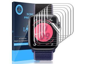 4 Pack Screen Protector Compatible with Apple Watch Series 3 42mm and Series 6 SE Series 5 Series 4 44mm Model No KR9836 Flexible TPU Filmfingerprintproof SelfHealing HD Transparent