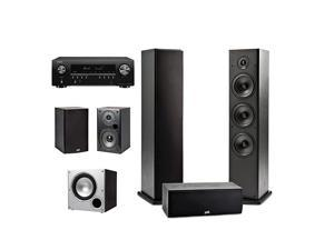 51 Channel Home Theater System with Powered Subwoofer Denon AVRS650H Receiver | Two 2 T15 Bookshelf One 1 T30 Center Channel Two 2 T50 Tower Speakers PSW10 Sub | Alexa + HEOS