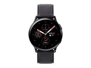 Galaxy Watch Active2 40mm Black Stainless Steel LTE Unlocked SMR835USKAXAR  US Version amp Warranty Renewed