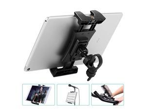 Tablet Holder Portable Bicycle Car Phone Tablet Mount for Indoor Gym Treadmill Microphone Stands Microphone Tablet Holder Exercise for iPad iPad Pro iPad Mini 2 3 iPad Air iPhone