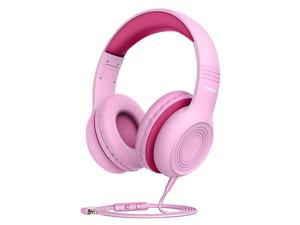 CH6S Kids Headphones with Microphone Over Ear On Ear Headphones for Kids with HD Sound Sharing Function for Children Boys Girls Volume Limit Safe 85dB94dB Headset for School Travel