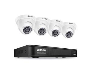 1080P H265+ Home Security Camera System5MP Lite 8 Channel Surveillance DVR and 4 x 1080p Weatherproof CCTV Dome Camera Outdoor Indoor with 80ft Night Vision Remote Access No Hard Drive