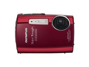 Stylus Tough 3000 12 MP Digital Camera with 36x Wide Angle Zoom and 27inch LCD Red Old Model