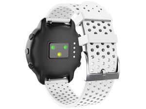 Compatible with Vivoactive 3Vivoactive 3 MusicForerunner 245Forerunner 645Vivomove HR Band20mm Soft Silicone Band Replacement Sport Strap for Smart WatchLargeWhite