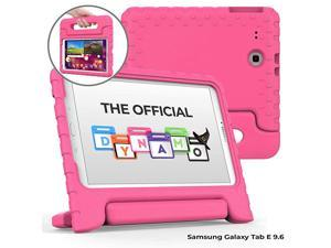 Dynamo [Rugged Kids Case] Protective Case for Samsung Tab E 9.6 | Child Proof Cover, Stand, Handle | SM-T560 T561 T562 T563 T565 T567 (Pink)
