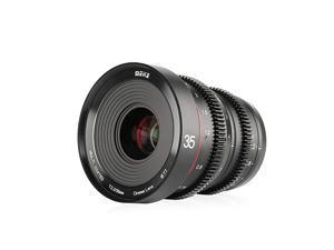35mm T2.2 Large Aperture Manual Focus Low Distortion 4K Mini Cine Lens for Micro Four Thirds M43 MFT Olympus Panasonic Lumix BMPCC 4K Zcam E2