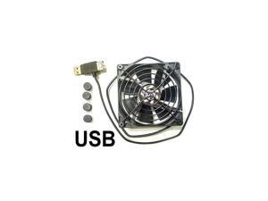 Single USB Fan for Playstation Xbox Receivers Roku 92mm