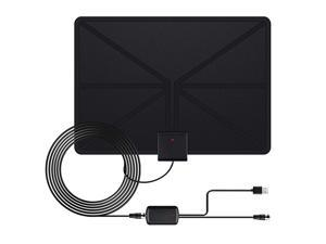 Antenna Digital TV Antennas 50 Mile Range Amplified Indoor High Definition Signal Booster