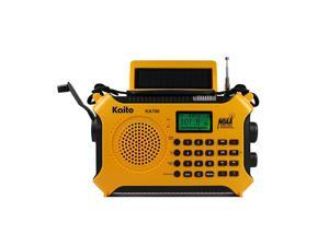 KA700 Bluetooth Emergency Hand Crank Dynamo amp Solar Powered AM FM Weather Band Radio with Recorder and MP3 Player Rugged Design for Hiking Camping Construction Sites EtcYellow