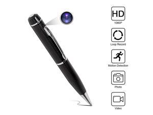 Hidden Spy Pen Camera HD 1080P Portable Digital Video Recorder with Photo Taking USB Port Covert Cam Wireless Mini DV Cam Multifunction Ink Pen Camcorder for Conference and Home Video Only