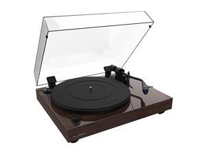RT84 Reference High Fidelity Vinyl Turntable Record Player with Ortofon 2M Blue Cartridge Speed Control Motor Solid Wood Plinth Vibration Isolation Feet Walnut