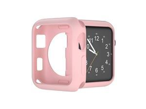 Compatible with Apple Watch Case 38mm 42mm 40mm 44mm Soft TPU Protective Bumper Cover for iwatch Series 5 4 3 2 Case Pink 44mm
