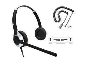 HD550 Double Ear Headset with Noise Canceling Microphone U10 Adapter Cable for All Cisco 6000 7800 and 8000 Series Phones and Models 7931 7940 7941 7942 7945 7960 7961 7962 7965 7970 7975