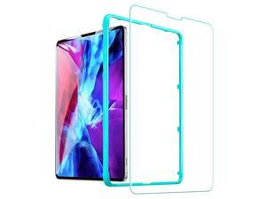 Screen Protector for iPad Pro 12.9 2021 & 2020 & 2018, 9H-Hard HD Clear Tempered-Glass Screen Protector for the iPad Pro 12.9-Inch [2X Strength] [Scratch-Resistant]