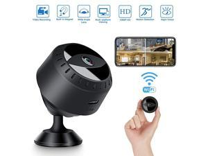 Mini Camera Wireless WiFi Hidden Camera 1080P Portable Home Small Camera with Night Vision and Motion Detection Outdoor Indoor Security Nanny Camera with Monitor Phone App