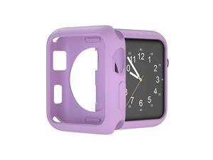 Compatible with Apple Watch Case 38mm 42mm 40mm 44mm Soft TPU Shockproof and ShatterResistant Protective Bumper Cover iwatch Series 5 4 3 2 Case Lavender 44mm Series 45