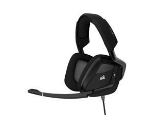 VOID PRO RGB USB Gaming Headset Dolby 71 Surround Sound Headphones for PC Discord Certified 50mm Drivers Carbon