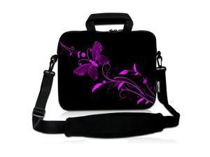 14 15 154 156 inch Laptop Shoulder Bag Messenger Bag Case Notebook Handle Sleeve Neoprene Soft Carring Tablet Travel Case with Accessories Pocket 14156 inch Nice Butterfly