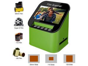 Digital Film Slide Scanner Converts 35mm 110 126 and Super 8 Films 8mm Film Negatives Slides to 22 Megapixel JPEG Images Includes 43 Inch TFT LCD Display