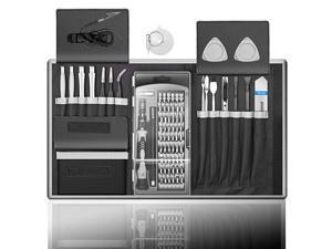 in 1 Professional Computer Repair Tool Kit, Precision Laptop Screwdriver Set, with 56 Bit, Anti-Static Wrist and 24 Repair Tools, Suitable for MacBook, PC, Tablet, PS4, Xbox Controller Repair…
