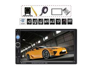 7 inch Double Din Touch Screen Car Stereo Upgrade The Latest Version MP543 Player FM Radio Video Support Backup RearView Camera Mirror Link