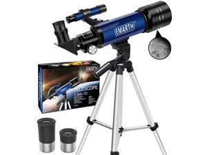 Telescope Travel Scope 70mm Astronomical Refracter Telescope with Tripod amp Finder Scope Portable Telescope for Kids Beginners Blue